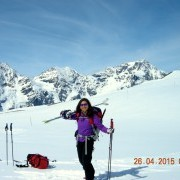 Spring skiing in the Alps